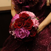 Colorful dress bouquet
