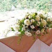 Tabletop flower arranging